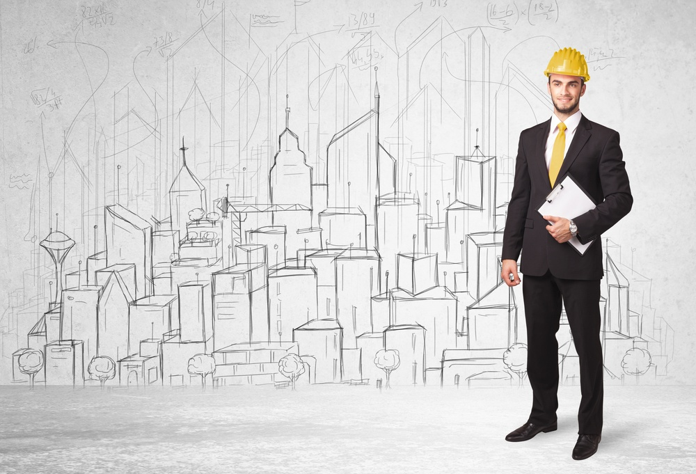 Construction worker with cityscape background drawing.jpeg